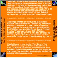 liner notes - print on opposite side of back cover