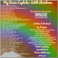 My Brain Explodes With Rainbows back cover